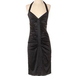 BCBGMaxazria Silk Ruched Cocktail Dress Size 2